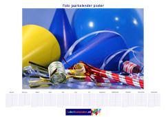 A0 foto jaarkalender poster liggend