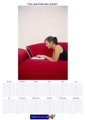A1 foto jaarkalender poster staand