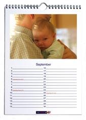 a4 bureau fotokalender staand met standaard