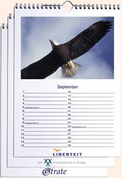 a5 bureau logo fotokalender staand met standaard