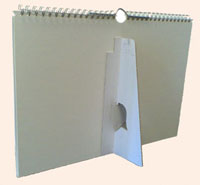 achterkant a4 bureau logo fotokalender liggend met standaard