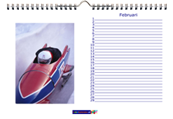 Foto bureaukalender liggend A4 maken