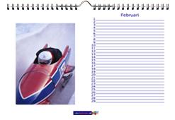Foto bureaukalender liggend formaat