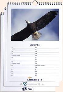 Foto bureaukalenders met logo staand