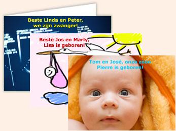 Foto geboortekaartjes service