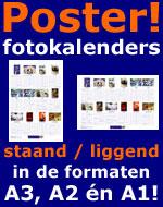 Foto poster verjaardagskalender maken staand - liggend in A3 A2 en A1 posterformaat