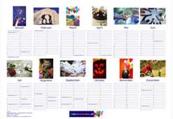 Foto posterkalender liggend formaat