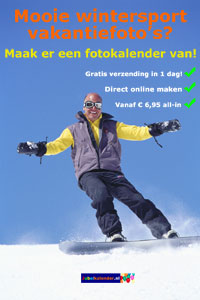 Leuke wintersport vakantiefoto's - snel foto verjaardagskalender maken