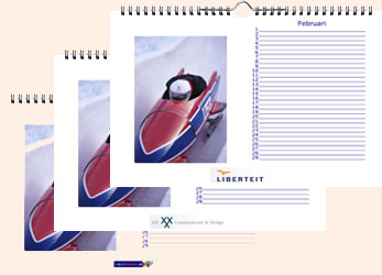 Logo foto bureaukalender A4 liggend