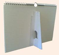 Logo foto bureaukalender A5 liggend met standaard