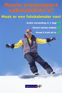 Mooie wintersport vakantiefoto's - foto kalender maken