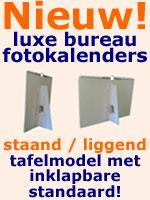 Nieuw! Luxe bureau fotokalenders met standaard staand of liggend in formaten A5 A4 en A3 maken