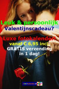 Origineel uw Valentijn verrassen op Valentijnsdag - foto verjaardagskalender cadeau