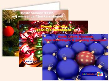 Persoonlijke foto kerstkaarten service bedrijven