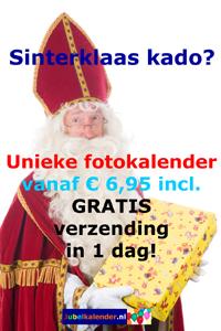 Sinterklaascadeau tip - verjaardagskalender maken met eigen foto's
