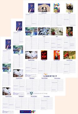 Voorbeeld A1 logo poster fotokalender staand Jubelkalender