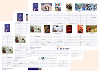 Voorbeeld A2 logo poster fotokalender liggend Jubelkalender