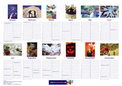 Voorbeeld A3 poster fotokalender liggend Jubelkalender