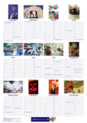 Voorbeeld A3 poster fotokalender staand Jubelkalender