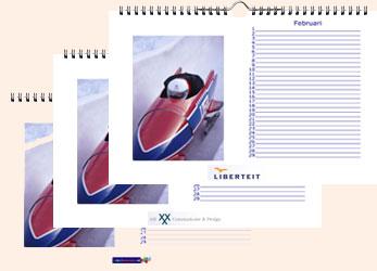 Voorbeeld A5 logo fotokalender liggend Jubelkalender