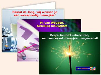 Voorbeeld foto nieuwjaarskaarten service bedrijven