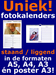 Uniek fotokalenders staand of liggend in formaten A5 A4 A3 poster A3